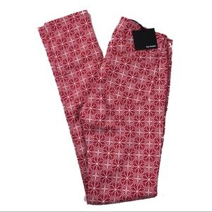 The Kooples Red Geometric Floral White Pants 25
